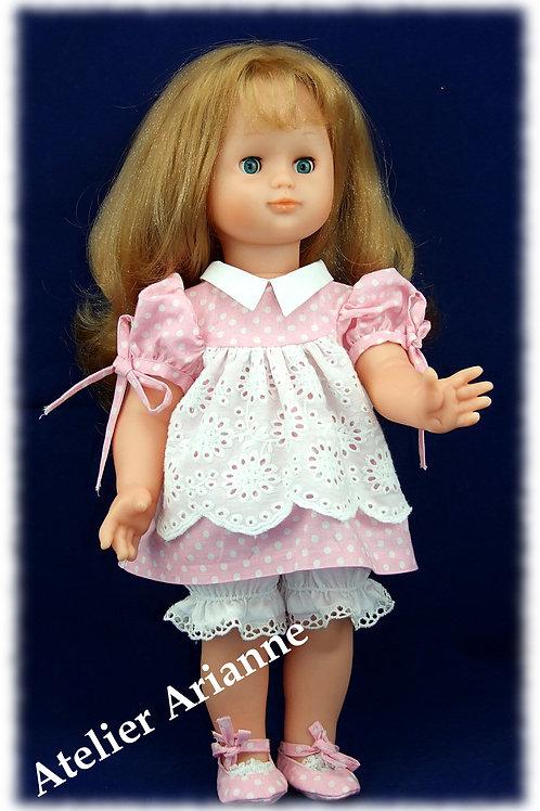 Tenue Léonia pour poupée Emilie de Modes et Travaux, Bella et autres de 40 cm