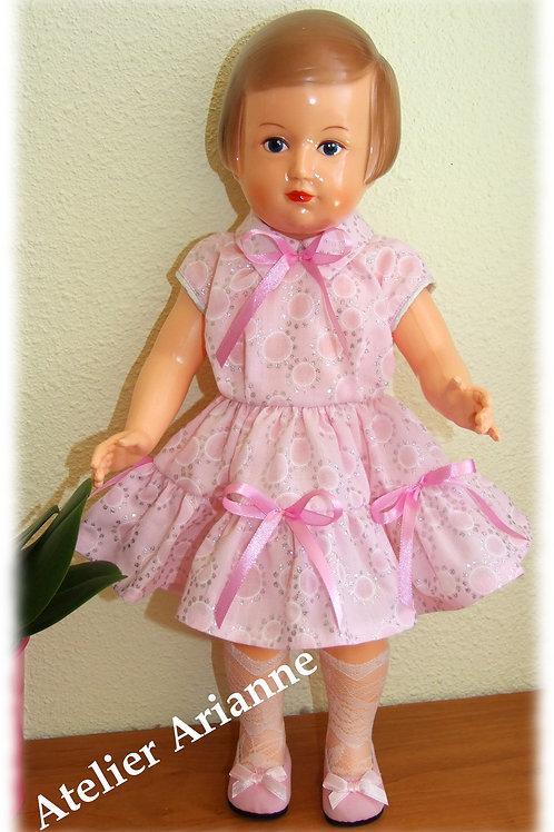 Tenue pour poupée Françoise  de Modes et Travaux Juin 1955