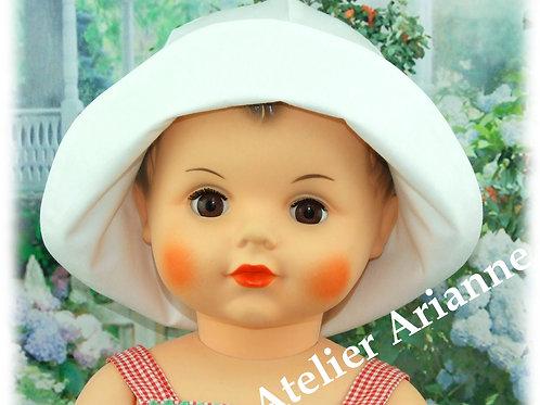Chapeau pour poupée ou baigneur, tour de tête 37-39,5 cm