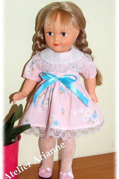 Tenue Octobre 1961 pour poupées Modes et Travaux, Marie-Françoise