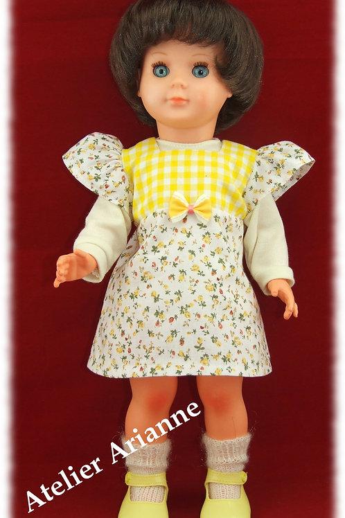 Tenue pour poupée Françoise , Francette de Modes et Travaux Février 1973