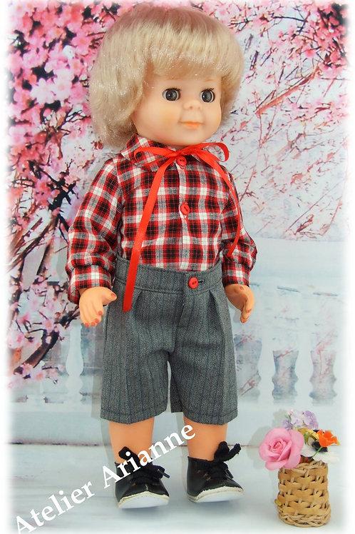 Tenue pour poupée Jean-Michel Modes et Travaux Octobre 1979