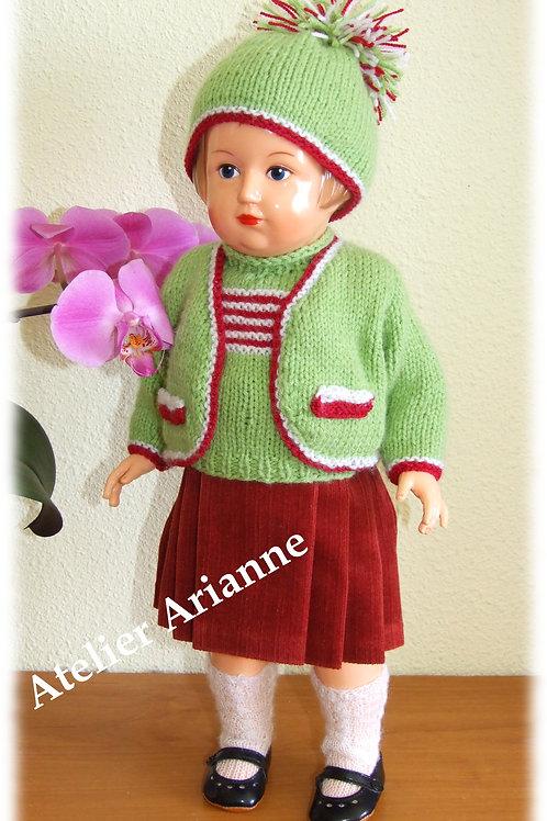 Tenue pour poupée Françoise Modes et Travaux Février et Mai 1953