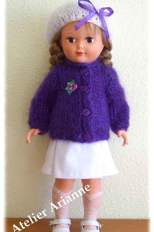 Tenue Amanda tricot, couture pour poupée Marie-Françoise Modes et Travaux