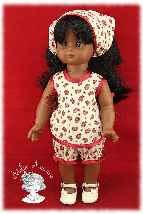 Tenue Beaux jours pour poupées M et T, Emilie, Michel, Kattie de Raynal