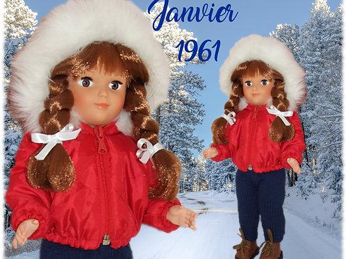 Tenue pour poupée Françoise Modes et Travaux Janvier 1961