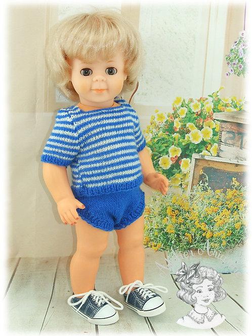 Tenue pour poupée Jean-Michel Modes et Travaux Juillet 1975