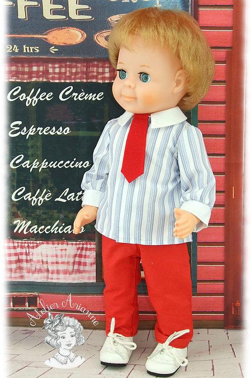 Pantalon pour poupée Jean-Michel de Modes et Travaux