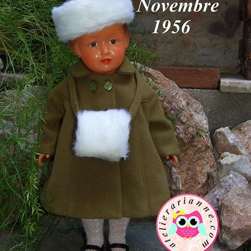 Réservé pour Monique de Tenue pour poupée Françoise Met T Novembre 1956