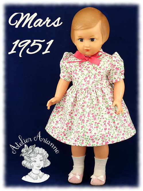 Mars 1951 Tenue pour poupée Marie-Françoise  Modes et Travaux