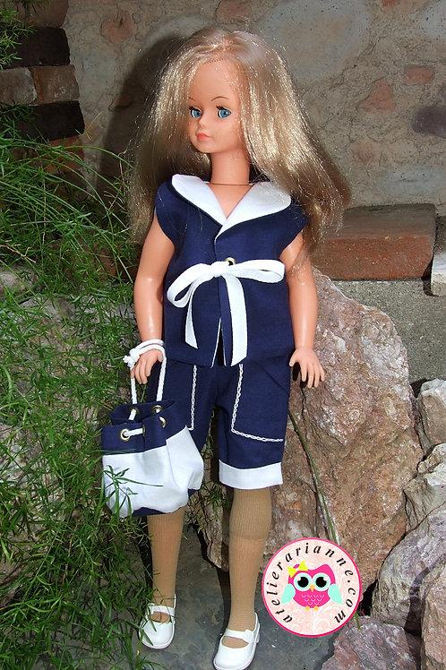 Tenue marine pour poupée Cathy / Cathie de Bella