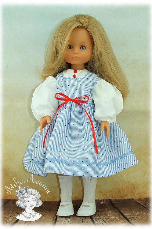 Mary - tenue pour poupées Chérie de Corolle et Paola Reina de 33 cm