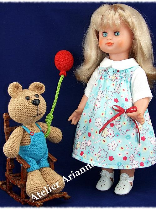 Tenue pour poupée Emilie Modes et Travaux Avril 1978