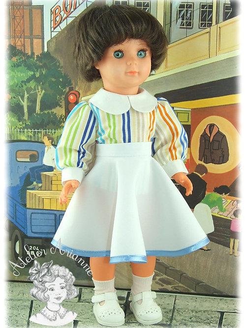 Nr 2 Chemise à manches bouffantes pour poupées de Modes et Travaux