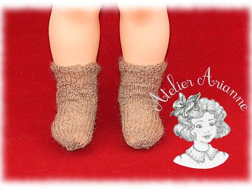 Chaussettes beiges tricotées pour : Françoise, Finouche, Francette