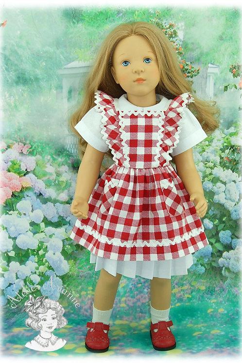 Tablier pour poupée Finouche - avril 1953