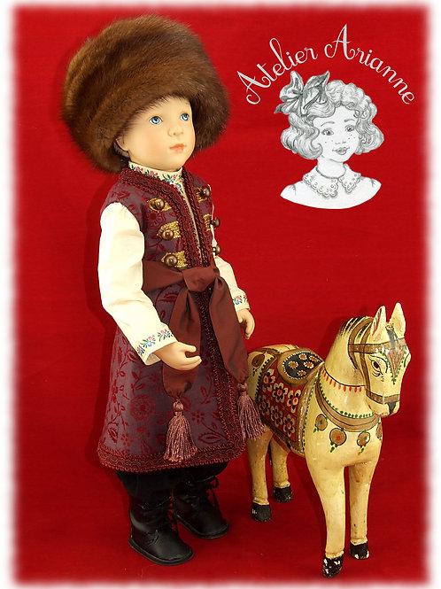 Modèle unique, tenue Vassily de la série Moscou, costume traditionnel russe