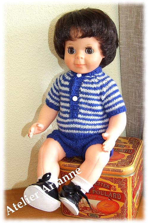 Tenue Mai 1965 pour poupée Modes et Travaux, Michel