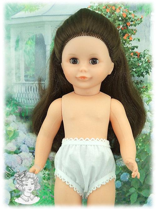 Culotte blanche pour poupées Modes et Travaux : Françoise et autres de 40-43 cm