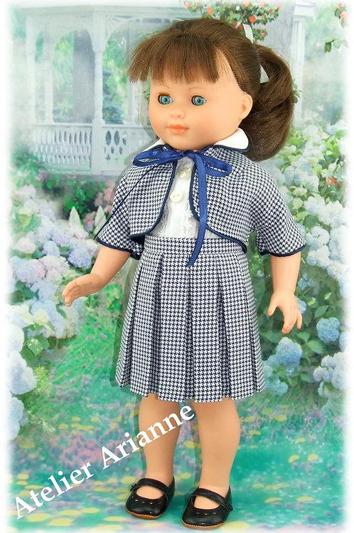 Tenue pour poupée Françoise , Francette de Modes et Travaux Mai 1957