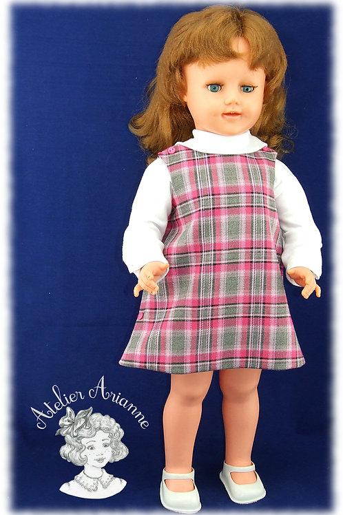 Tenue Clotilde pour poupées de 55-60 cm