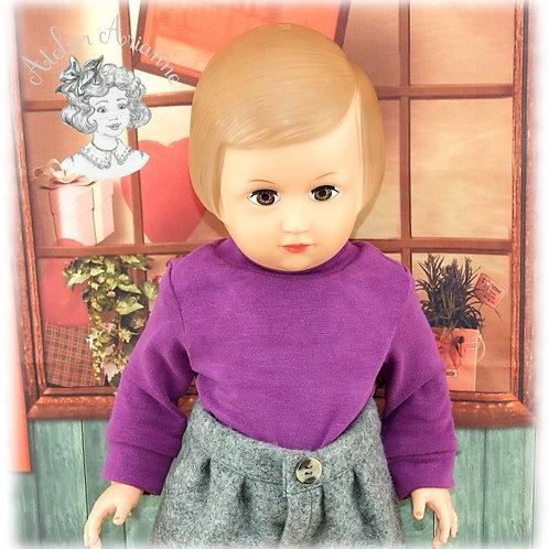 Col roulé en jersey pour les poupées de Modes et Travaux
