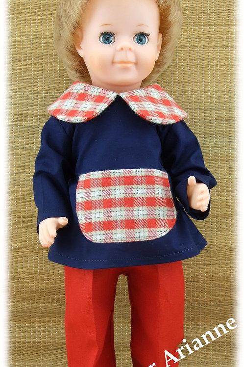 Tenue pour poupée Jean-Michel Modes et Travaux Février 1973