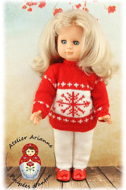 Hiver Tenue pour poupée Modes et Travaux : Emilie