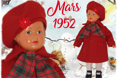 Tenue pour poupée Françoise Modes et Travaux Mars 1952