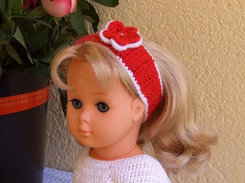 Bandeau large crochet pour poupée Françoise Modes et Travaux