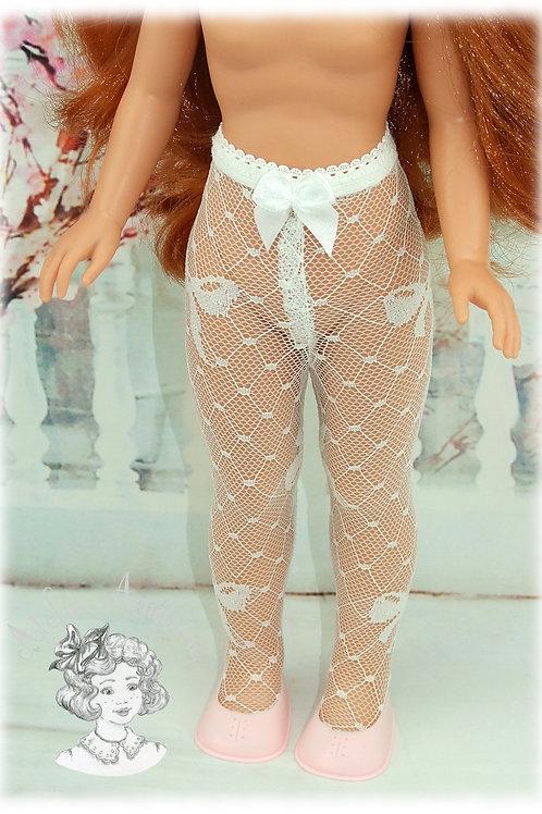 Collant dentelle nœuds pour poupées Vidal Rojas