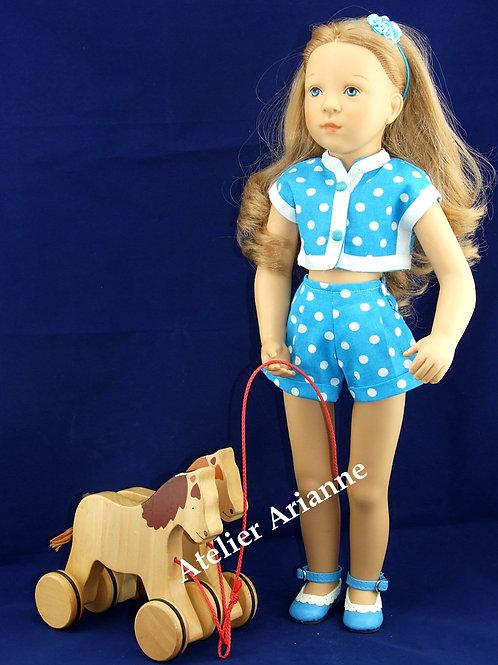 Tenue Evelyne pour poupée Finouche 48 cm de Petitcollin