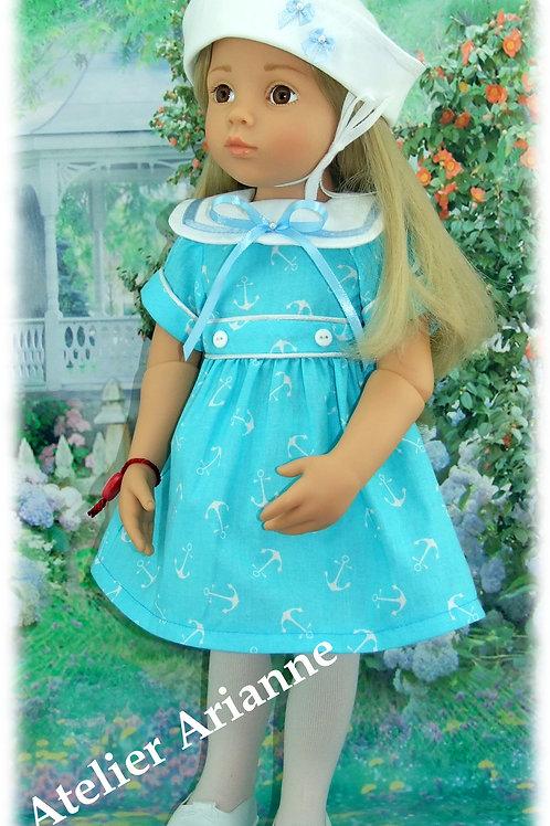 Tenue Annick pour poupée : Finouche, Gotz, Kidz'n'Cats bleu turquoise