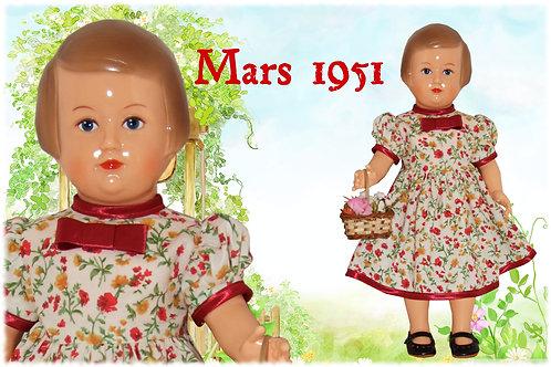 Robe Françoise Rouge Mars 1951
