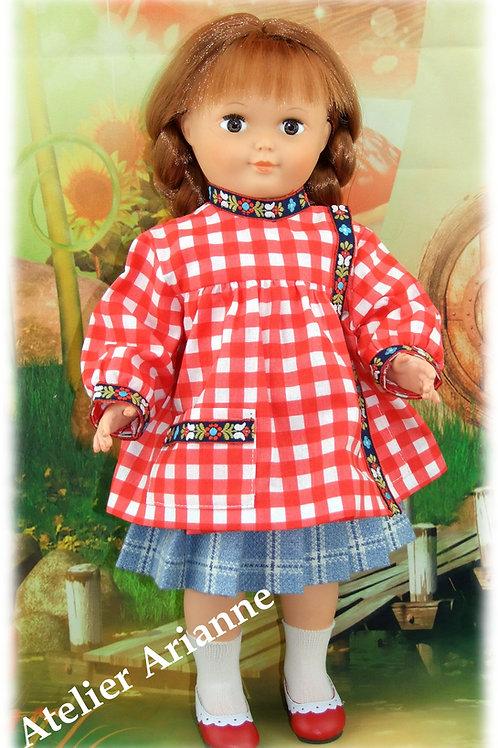 Tablier pour poupée Françoise Modes et Travaux Octobre 1956