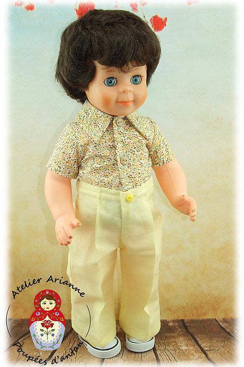 Chemise et pantalon pour poupée Modes et Travaux : Jean Michel