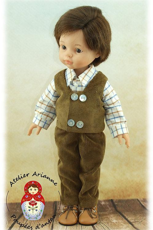 Emilien -Chemise, veston et pantalon, Tenue pour poupée  Paola Reina