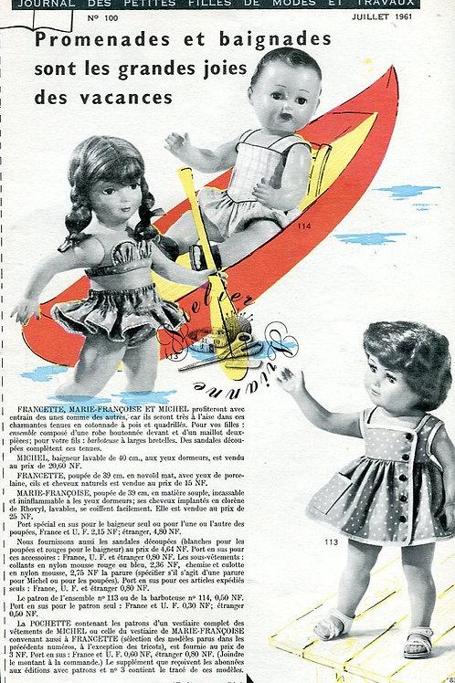 Page Modes et Travaux Juillet 1961 avec mini patron