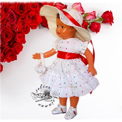 Tenue pour poupée Françoise de Modes et Travaux Juillet 1952