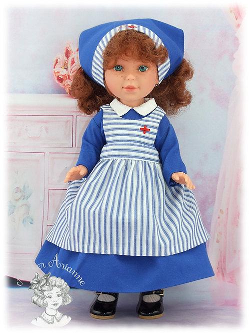 Reproduction d'une tenue d'origine pour poupée Jumeau de 36 cm