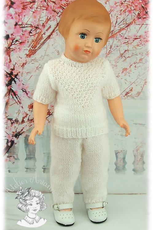 Pantalon fuseau pour la tenue de Janvier 1961 pour poupée Marie-Françoise