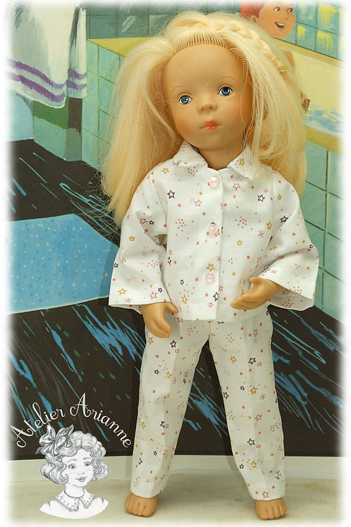 Bonne Nuit Tenue pour poupée Minouche 33 cm