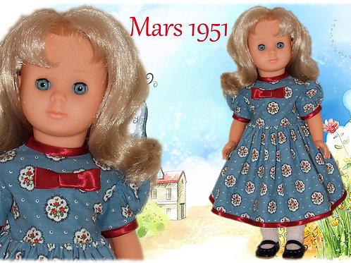 Commande pour Monique Tenue poupée Modes et Travaux pour Françoise Mars 1951