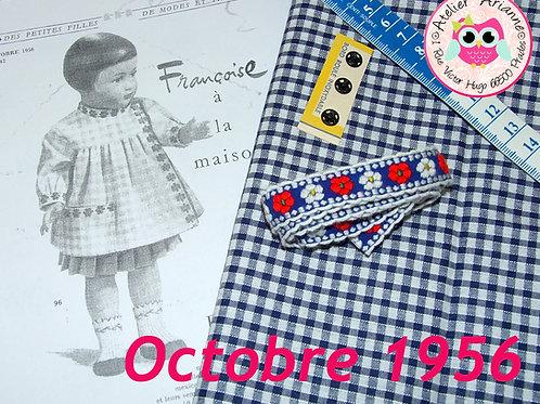 Kit 48 couture Modes et Travaux Françoise,  Octobre 1956