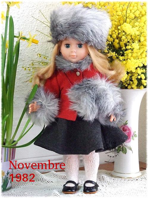 Tenue pour poupée Marie -Françoise  Modes et Travaux Novembre 1982