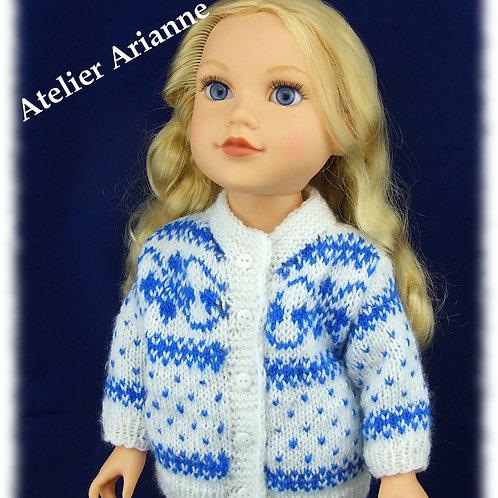 Tenue Tomette tricot pour poupées Finouche, Gotz, Journey Girl et autres 50 cm