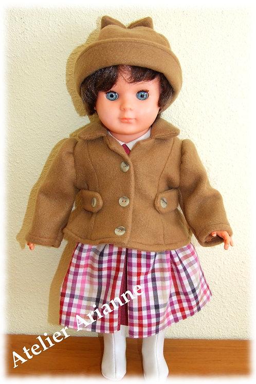 Tenue Melissa pour poupées Modes et Travaux, Marie-Françoise
