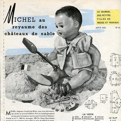 Page Modes et Travaux Août 1958 avec mini patron