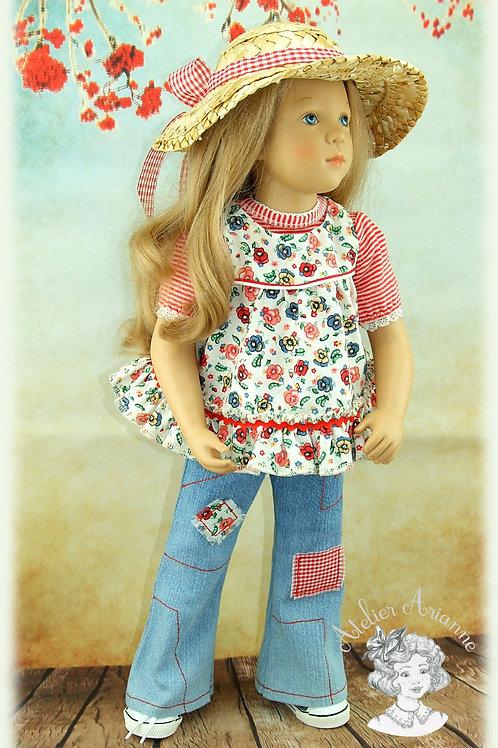 Sarah- tenue d'après une illustration de Sarah Kay pour poupée fille