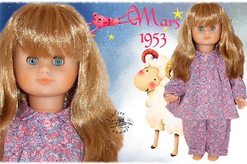 Tenue pour poupée Emilie Modes et Travaux Mars 1953